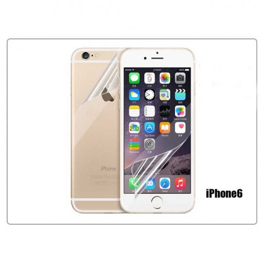 Set Apple iPhone 6 Panzerfolie Vorne & Hinten Klar Display Schutz Folie