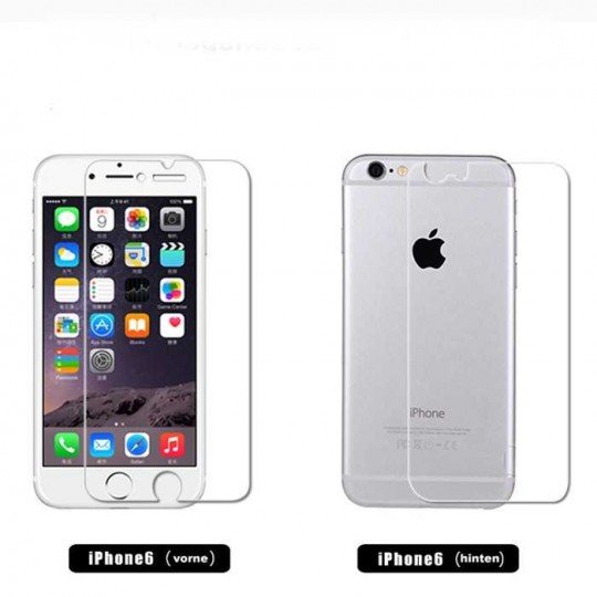Set Apple iPhone 6 Plus Panzerfolie Vorne & Hinten Klar Display Schutz Folie
