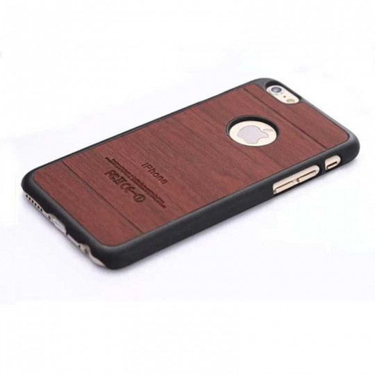 Apple iPhone Handy Hard Case Hülle Holz Optik Cover Bumper Schale