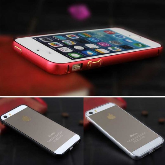 iPhone Apple Aluminium-look Handy Bumper Schutz Hülle Cover Case Schale