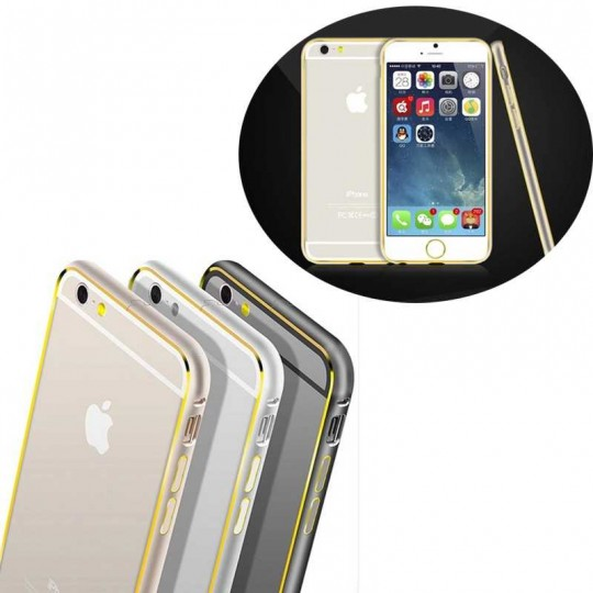 Apple iPhone Aluminium-look Handy Bumper Schutz Hülle Cover Case Schale