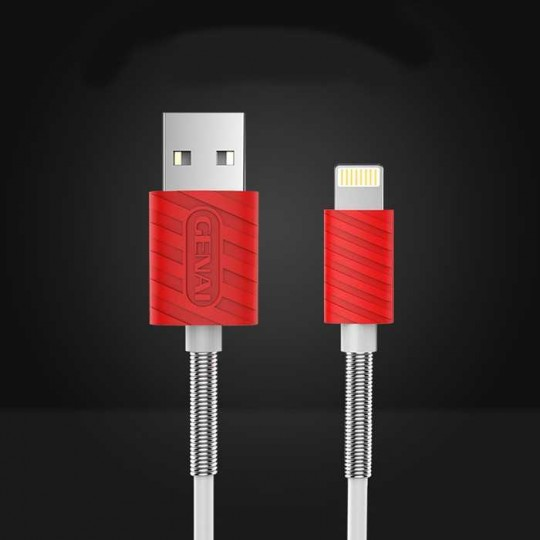 Lightning-USB Ladekabel Datenkabel flexibles Knick-Schutz-Kabel