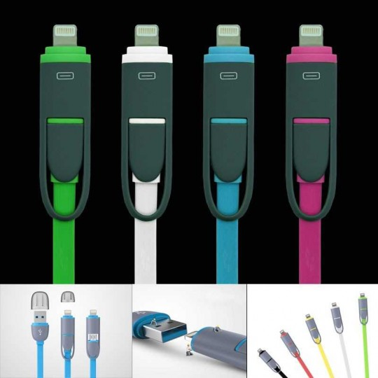 2in1 Ladekabel USB Lightning iPhone und Android
