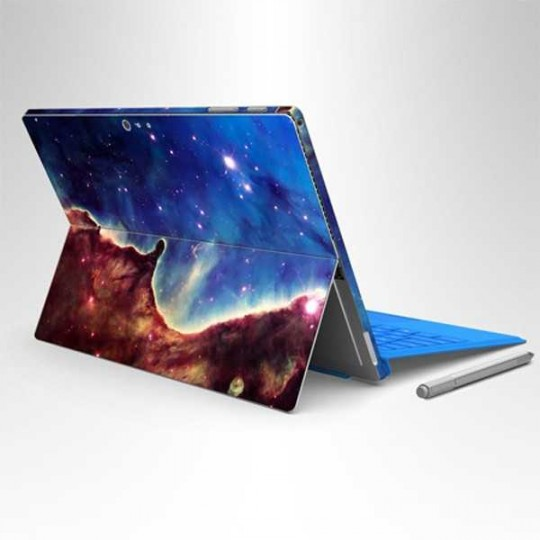 Schutzfolie, Designfolie, Aufkleber, Skin Sticker für Microsoft Surface Pro 4 Design Magic Galaxies