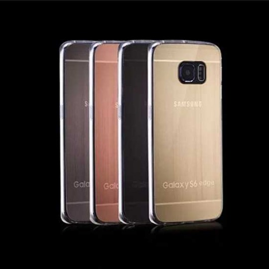 BRUSHED Case Samsung S6 edge Plus Silikon Schutz Hülle TPU Handy Tasche
