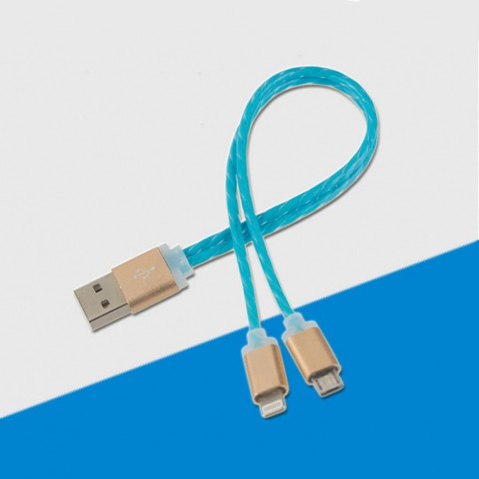 2in1 Ladekabel Micro USB Lightning