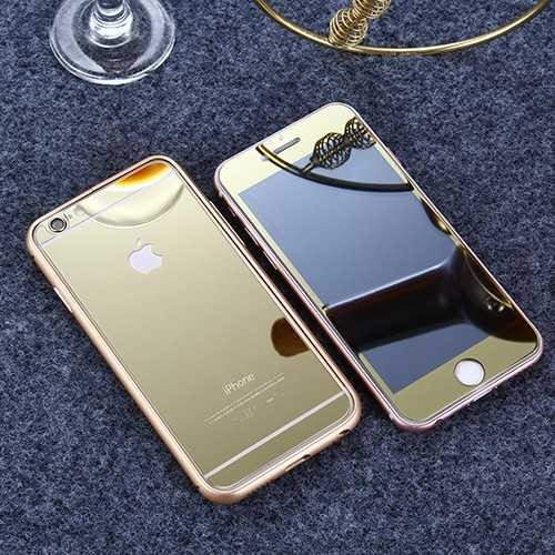 Apple iPhone Full Cover Panzerglas 9H Vorder- Rückseite speigelnd rosegold