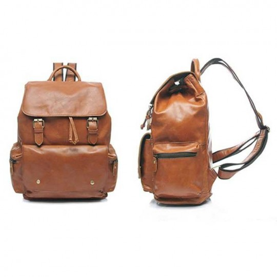 vintage backpack genuine Leather bags satchel school bag