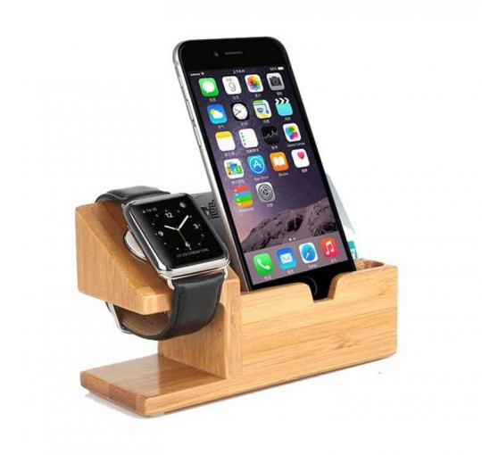 Docking Station Handy Watch Holz