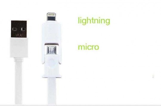 2in1 Lightning Micro USB Apple iPhone Kabel 1m